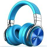 XAJGW Auriculares con cancelación activa de ruido Auriculares Bluetooth con micrófono Auriculares inalámbricos de graves profundos Sobre la oreja, Cómodas almohadillas de proteínas, Tiempo de reproduc