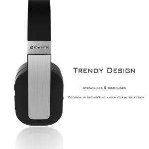 Los cascos bluetooth de Zoweetek son una opción favorita para los amantes de la música, los críticos del sonido y el público más exigente. Los AES-ZW-H01A tiene un diseño sobrio y elegante, con materiales de calidad, y una impresionante calidad de sonido.